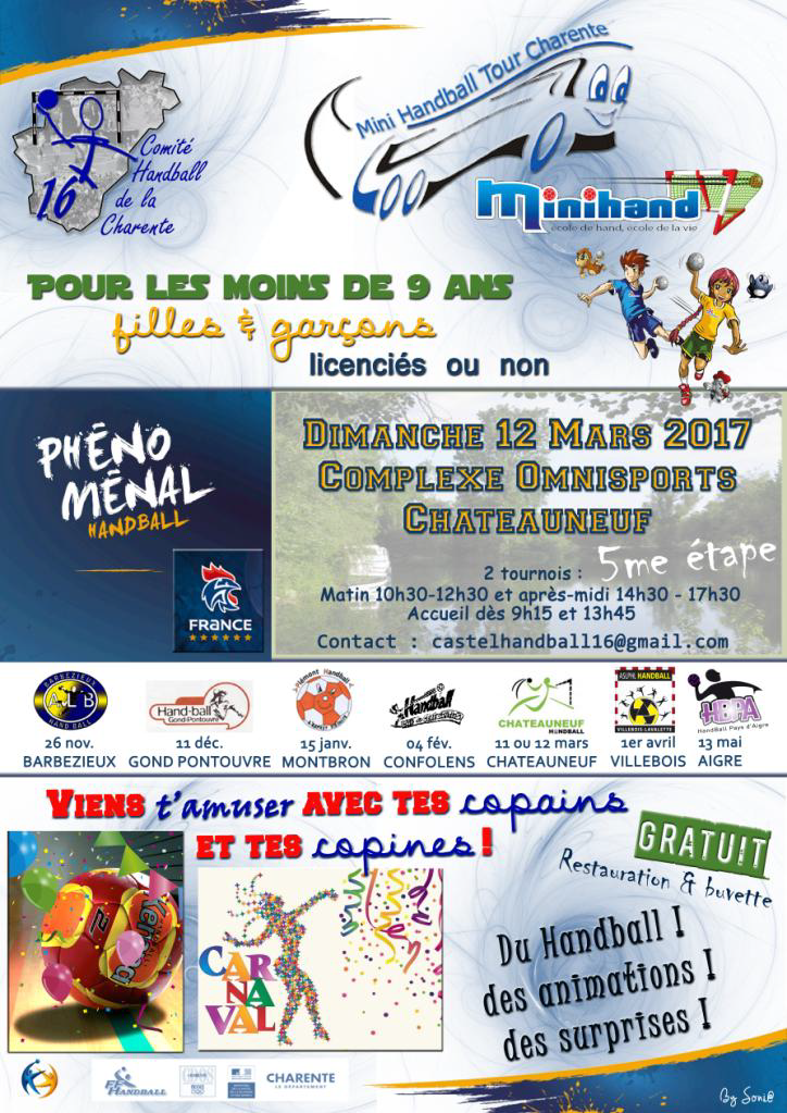 Mini Handball Tour Charente 12-03-2017
