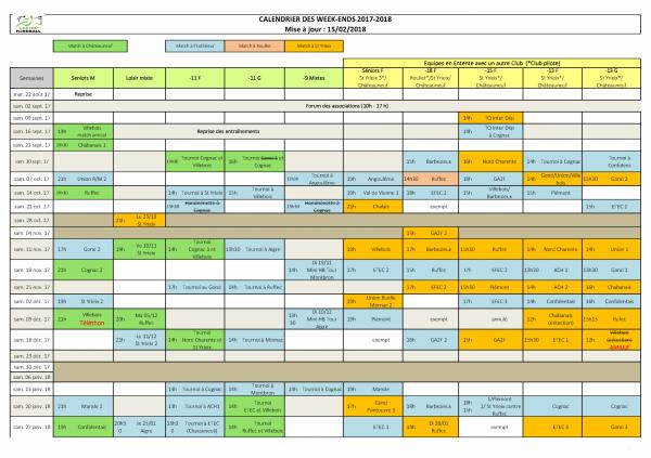 2017 2018 calendrier des matchs du week end1 29