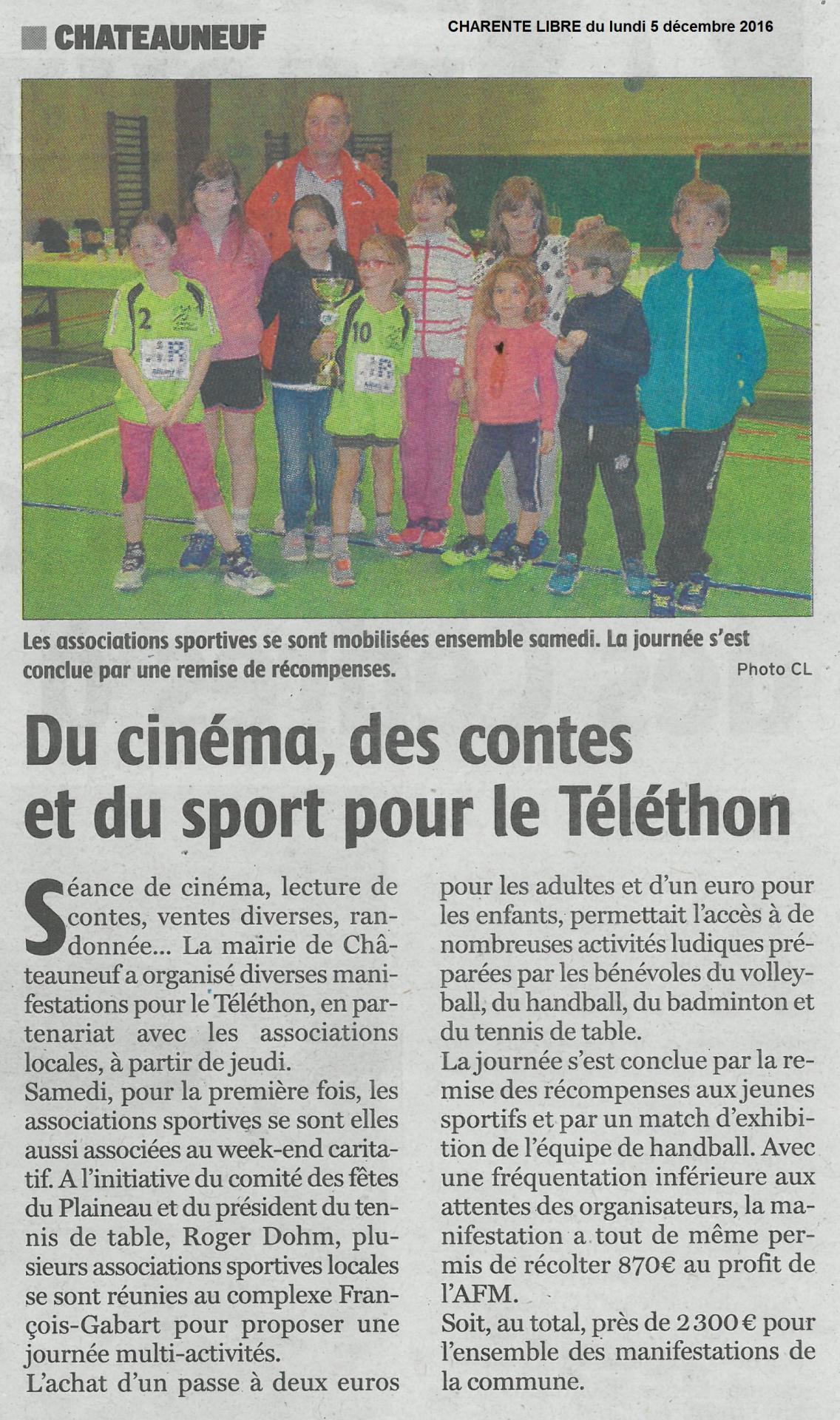 Charente libre du 5 decembre 2016