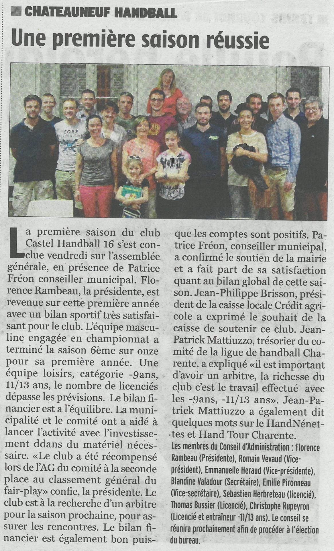 Charente Libre 5 juillet 2016